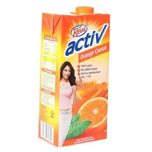 Picture of REAL ACTIV ORANGE CARROT FRUIT VEGETABLE JUICE 1 LT CARTON